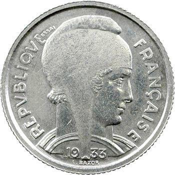 IIIe République, essai de 5 francs Bazor, 1933 Paris