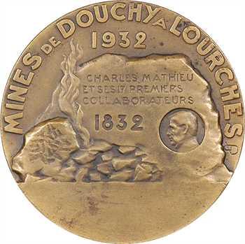 Mine : Centenaire des mines de Douchy à Lourches, par Dautel, 1832-1932 Paris