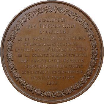 Second Empire, Orléans, achèvement des Hospices civils d'Orléans, 1860