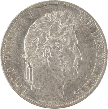 Louis-Philippe Ier, 5 francs IIIe type Domard, 1845 Lille