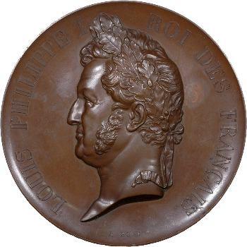 Louis-Philippe Ier, établissement des lignes de chemins de fer, 1842 Paris