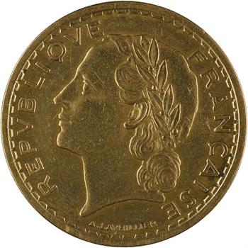 IIIe République, 5 francs Lavrillier bronze-aluminium, 1938 Paris