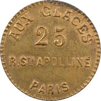 IIIe République, jeton de maison close, Aux Glaces (Paris), s.d