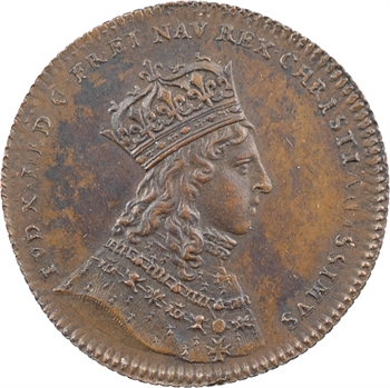Louis XIV, sacre à Reims le 7 juin 1654, LUTTON, cuivre, 1654  [1845-1860] Paris
