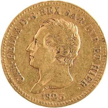 Italie, Savoie-Sardaigne, Charles-Félix, 20 lire, 1823 Turin