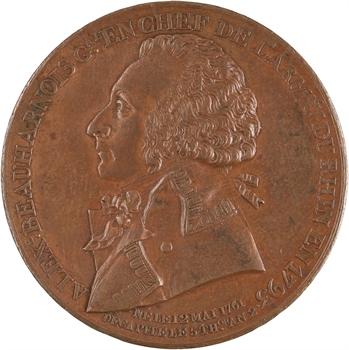 Convention, Alexandre de Beauharnais, général Armée du Rhin, 1793