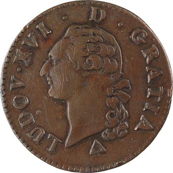 Louis XVI, sol de bronze, 1791, 2d semestre, Orléans