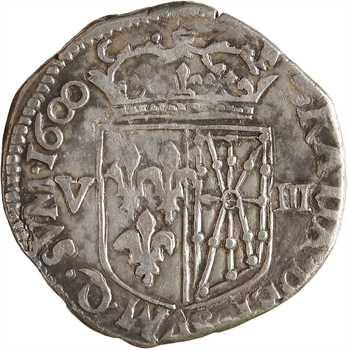 Henri IV, huitième d'écu de Navarre, 1600 Saint-Palais