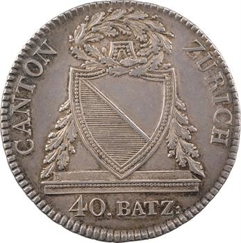 Suisse, Zürich (canton de), 40 batzen, 1813