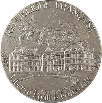 Ve République, médaille du sénateur Jean Bernard, par Gondard, 1992 Paris