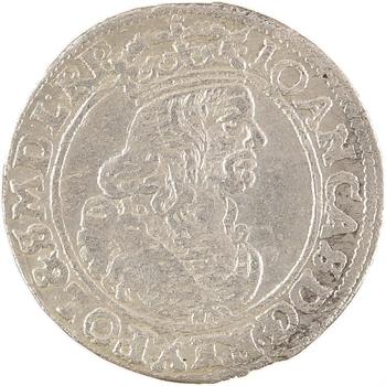 Pologne, Jean II Casimir Vasa, pièce de VI gros, 1662 (AT) Cracovie
