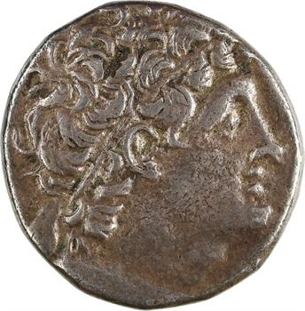 Égypte, Ptolémée IX Soter et Cléopâtre III, tétradrachme, Alexandrie, RY 10 = 108-107 av. J.-C