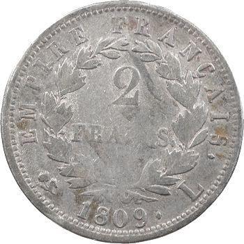 Premier Empire, 2 francs Empire, 1809 Bayonne