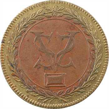 Henri IV-Louis XIII, jeton bimétallique, indéterminé, s.d. (début XVIIe s.)