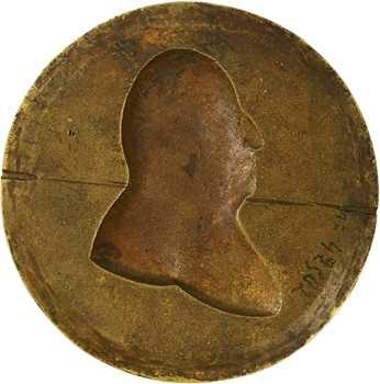 Louis XVIII, son portrait, fonte par Moncagnesi (?), s.d