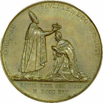 Charles X, médaille du sacre à Reims (Sb.95e), 1825