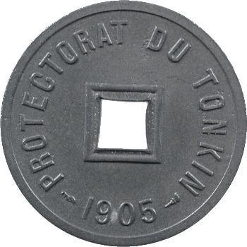 Tonkin, piéfort de 1/600e piastre en zinc, 1905 Paris