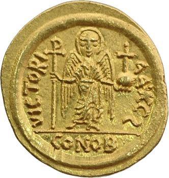 Maurice Tibère, solidus, Carthage, 587-588