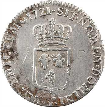Louis XV, sixième d'écu de France, 1721 Troyes