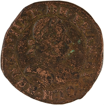 Henri III, double tournois 1er type, 1579 La Rochelle