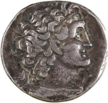Égypte, Ptolémée XII, tétradrachme, Alexandrie, RY 18 (64-63 av. J.-C)
