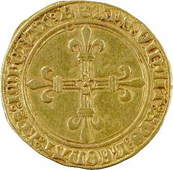 Charles VIII, écu d'or au soleil, 1re émission, Bourges