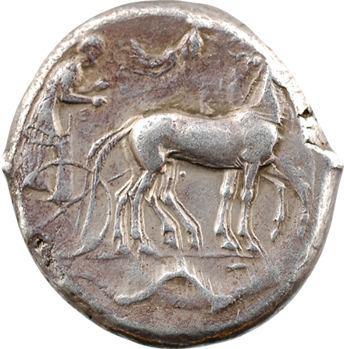 Sicile, Syracuse, Seconde démocratie, tétradrachme, 450-440 av. J.-C.