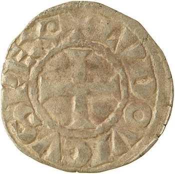 Louis VIII (ou Louis IX avant 1245), denier tournois