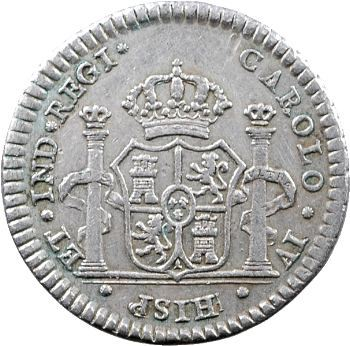 Mexique, Charles IV, médaillette ou réal de proclamation, 1790