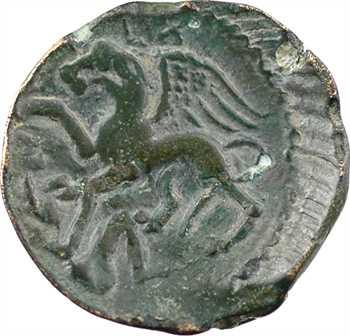 Carnutes, bronze PIXTILOS au griffon attaquant, classe I, c.40-30 av. J.-C.