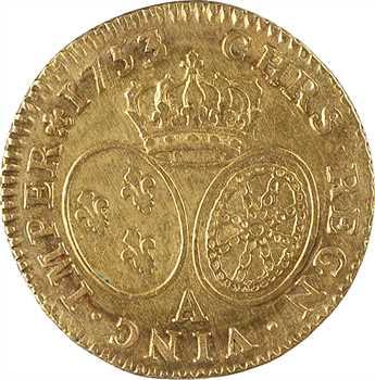 Louis XV, louis d'or au bandeau, 1753/2 Paris