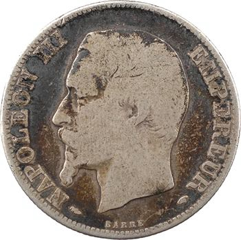Second Empire, 2 francs tête nue, 1854 Paris