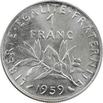 Ve République, essai de 1 franc Semeuse, 1959 Paris