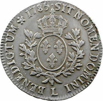 Louis XVI, écu aux rameaux d'olivier, 1785 Bayonne