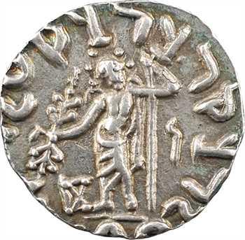 Royaume Indo-Scythe, Azès Ier, drachme (Zeus), c.57-35 av. J.-C. Taxila