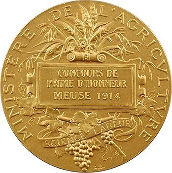 IIIe République, concours de prime d'honneur (Meuse), en or, par A. Dubois, 1914 Paris