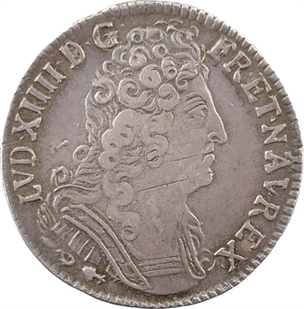 Louis XIV, quart d'écu aux trois couronnes, 1711 Besançon