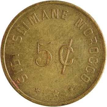Maroc, Armée des États-Unis, 5 [cents], OPEN MESS OFFICIERS à Sidi Slimane, s.d