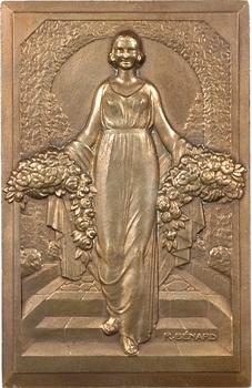 IIe Guerre Mondiale, Femme aux fleurs et à la source, par Bénard, 1940 Paris