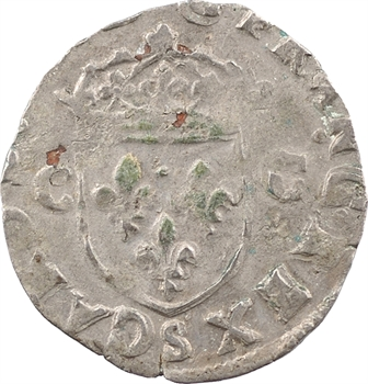 Charles X, douzain aux 2 C, 1er type, 1593 Troyes