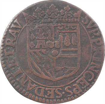Sedan (principauté de), Henri de La Tour, liard 6e type, 1614 Raucourt