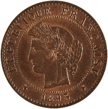 IIIe République, 1 centime Cérès, 1893 Paris