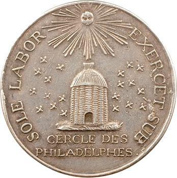 Saint-Domingue, grand jeton ou médaille, Société savante dite Cercle des Philadelphes, s.d. (1788)