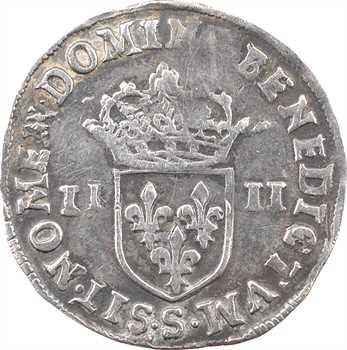 Charles X, quart d'écu, croix de face, 1590 Troyes