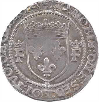 François Ier, teston 13e type, Troyes