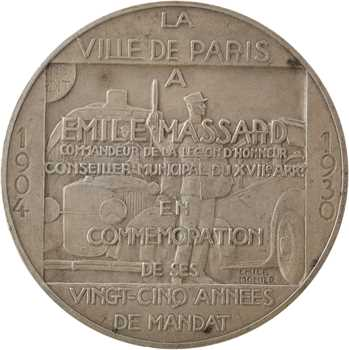 Monier (E.) : 25e année du mandat d'Émile Massard, 1904-1930 Paris