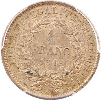 IIe République, 1 franc Cérès, PCGS MS64, 1849 Paris