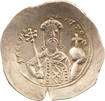 Alexis Ier, histamenon nomisma (scyphate) en électrum, Constantinople, 1092-1118