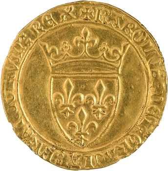 Charles VI, écu d'or à la couronne, 2e émission, 1388 Saint-Quentin