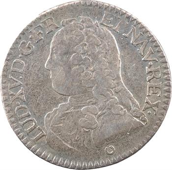 Louis XV, cinquième d'écu aux rameaux d'olivier, 1728 Tours